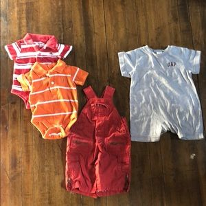Baby gap bundle of 4 - polos, onesies, overalls
